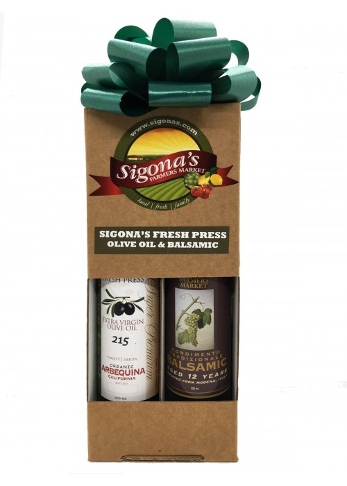 Organic California Arbequina & 12-Year Traditional Balsamic Gift Box - 200 ML