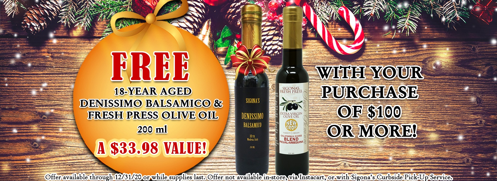 free 18 year and evoo