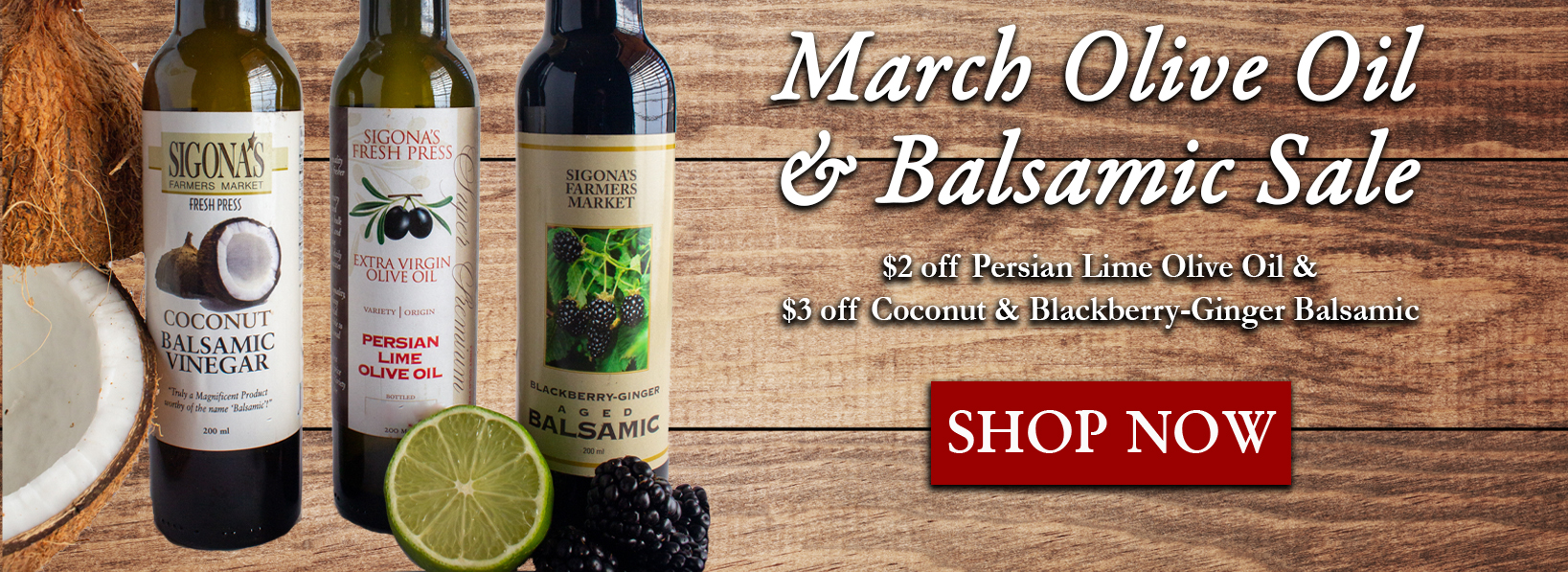 March 2021 Oil Balsamic Sale