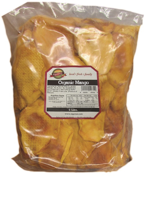 Organic Dried Mango, 5-lb. Bag