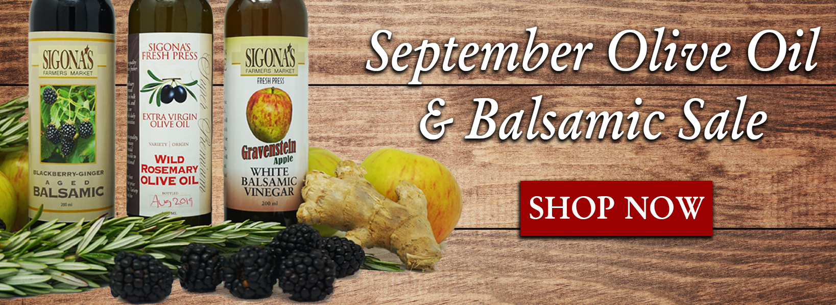 September Oil & Balsamic Sale