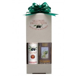 Dual-Pack of Arbequina Olive Oil & 12-Year Aged Balsamic Vinegar